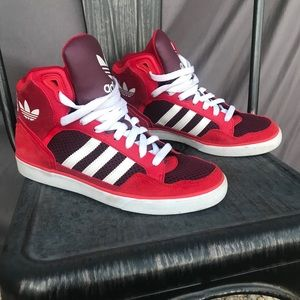 298252ea52b52 Adidas X FARM tukana toucan linear leggings Adidas red high tops ...